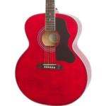 chitarra acustica epiphone rossa