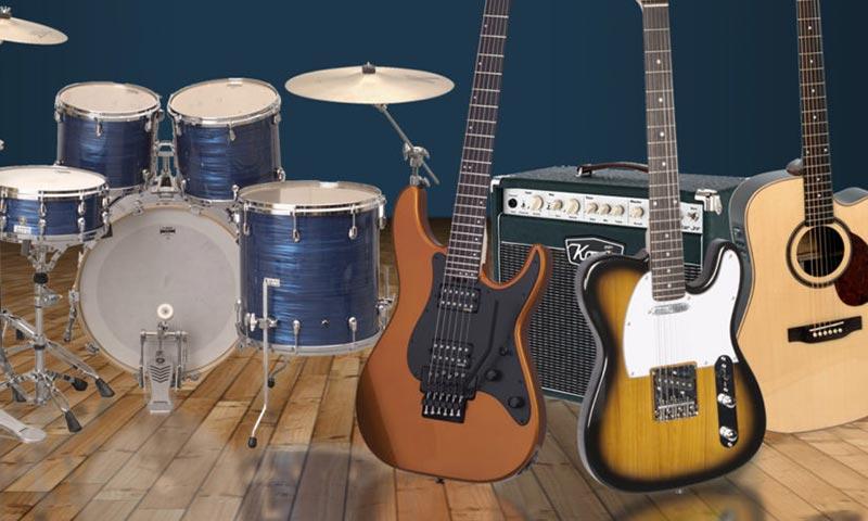 percussioni, chitarre, amplificazione